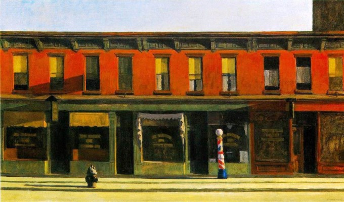 Edward-Hopper-Early-Ssunday-Morning-1930 35 x 60 Oil on Canvas