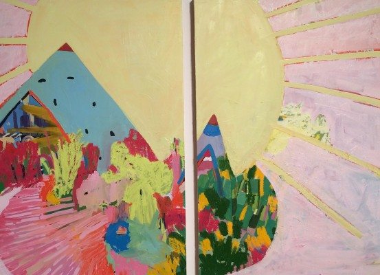 Image1Sunland 2015 Diptych of two panels