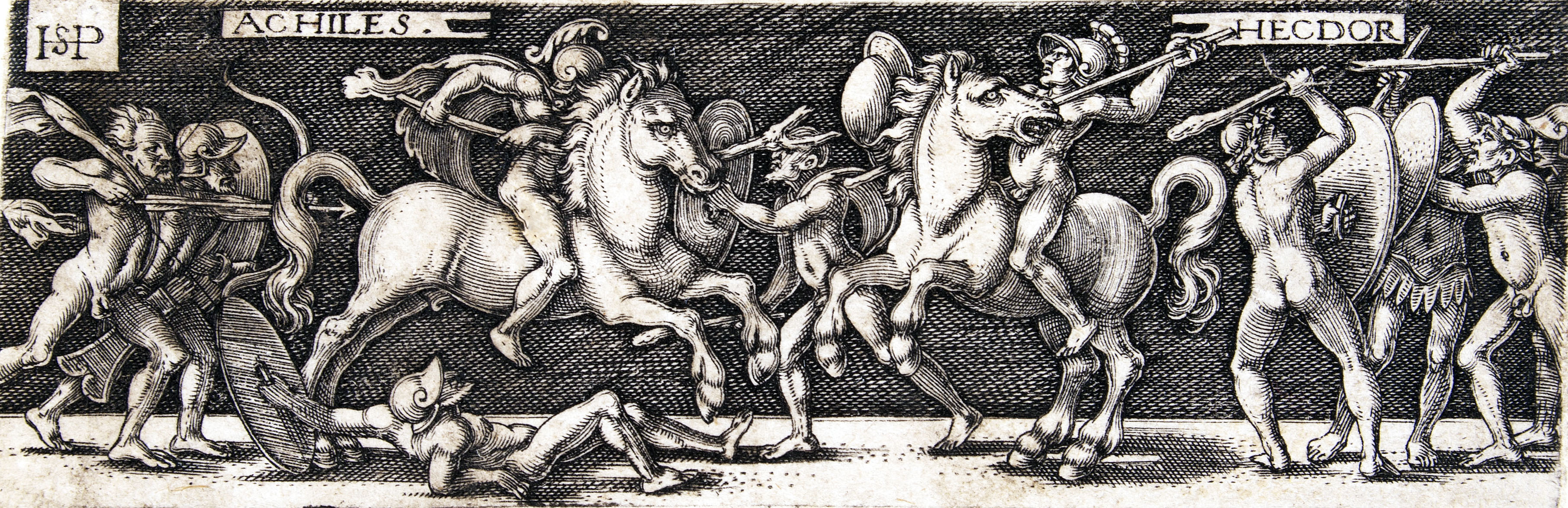Image 2 Hans Sebold Beham Achilles and Hector Engraving on laid paper 1510-30